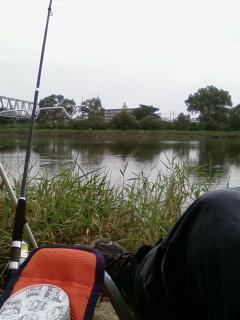阿武隈川で寝釣り