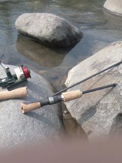 松川 釣果報告2008年5月第1週ABUのCardinal33レプリカモデル水没